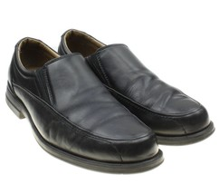 Bass & Co. Ulysses Slip On Black Leather Moc Style Loafer Shoe Men's Sz 10 - $21.73