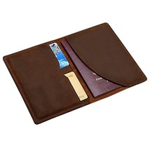 Genuine Leather Passport Holder Wallet Cover Case Travel Wallet by Boshi... - $19.99
