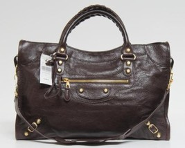 New Balenciaga City Giant 12 Arena Cigar Leather Bag - $1,465.10