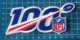 "2019 NFL Football 100th Anniversary Seasons Patch Football Jersey 5"" emb... - $14.99"