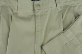Polo Ralph Lauren Hammond Men's Khaki Pleated Cotton Chino Casual Pants 34 x 28 - $30.59