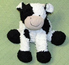 "JELLYCAT FUDDLE WUDDLE COW STUFFED ANIMAL 8"" PLUSH WHITE BLACK CALF SPOT... - $13.10"