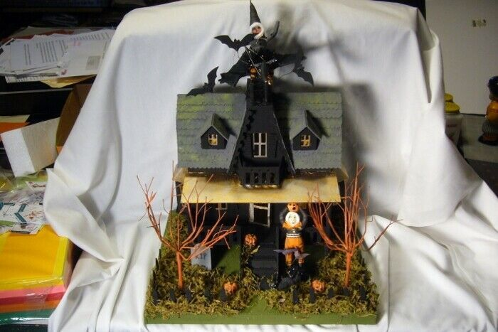Bethany Lowe Haunted House & Vintage Spun Cotton  Figures r