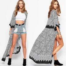 Zanzea Hippie Ladies Summer Casual Chiffon Kimono Long Shirt Coat Cardigan Maxi  - $28.75