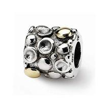 Sterling Silver & 14k s Dots Bali Bead by Reflection Beads - $84.67