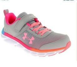 New Under Armour Assert 8 Alt Pre-School Girls' Running Sneakers Size 3 MSRP $50 - $34.65