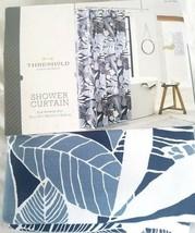 Blue White Floral Fabric Shower Curtain Cotton Machine Wash 72x72 Standa... - $7.99