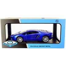 DDS-13014 Lamborghini Aventador Coupe Blue Metallic 1/24 Diecast Model C... - $43.68