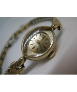 L62, GRUEN, Ladies Gold Tone Watch, 10k rpg Vintage Winding, Classic Fle... - $19.83