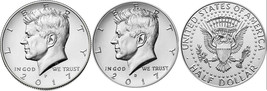 2017 P and D  BU Kennedy Half Dollar from US Mint Roll CP2445 - $4.25