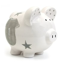 Child to Cherish Ceramic Piggy Bank for Boys, Allstar Jersey - $28.07