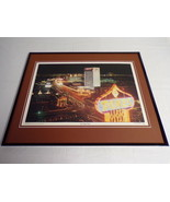 VINTAGE 1979 Las Vegas Strip Framed 16x20 Poster Display - $74.44