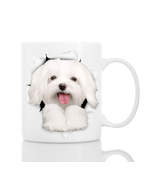 Funny Maltese People Dog Ceramic Cup 11oz Funny Coffee Cup - $7.99