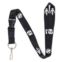 Boba Fett Mandalorian Crest Lanyard Keychain and ID Holder w/ Detachable... - $7.99