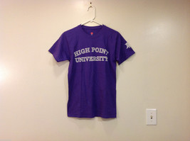 High Point University Team Logo T-shirt, Violet, Size Small