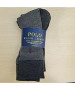 Grey  3Pairs Designer Mens POLO Ralph Lauren Macy's Dress Socks  - $19.64