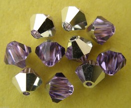 6 5mm Swarovski 5301 Crystal Bicones - Violet CAL(Please Read Item Descr... - $1.08
