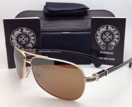 a9adab21c145 CHROME HEARTS Sunglasses GRAND BEAST GP-EBPV Gold   Ebony Wood with Brown  Lenses
