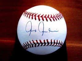 CHRIS CHAMBLISS 5X WSC NEW YORK YANKEES SIGNED AUTO OML BASEBALL TRACER ... - $49.49