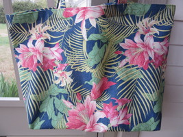 NEW Large Designer Tote Bags Tommy Bahama Tropical Flowers Eco Friendly ... - $21.95