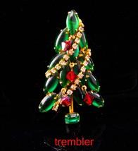 Vintage Christmas Tree brooch / Juliana trembler pin / Christmas gift fo... - $95.00