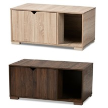 Cat Litter Box Cover Cat House Side End Table Furniture Oak Walnut Brown... - $108.88