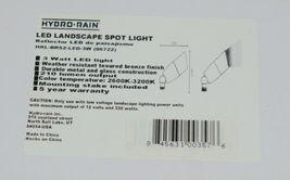 Hydro rain HRLBRS2LED3W Bonze LED Landscape Spot Light Weather Resistant image 7