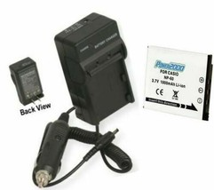 NP-60 NP60 NP-60DBA Battery + Charger For Casio EXZ9SR EX-Z9EO EXZ80BE EXZ80BK - $19.79