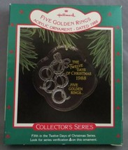 Hallmark Twelve Days of Christmas 1988 #5 in Series with Box Five Golden... - $6.00