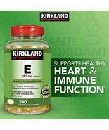 NEW Kirkland Signature Vitamin E 180 mg., 500 Softgels FREE SHIPPING - $20.49