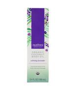 Nutiva, Organic Coconut Body Oil, Calming Lavender, 3.4 fl oz (100 ml) - $14.00