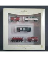 Hallmark Ornaments 5pcs Miniature North Pole Central Train Lionel Die-Ca... - $24.75