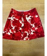 Jcrew Orange Print Wool Flare Skirt Size 4 Women's - $19.01