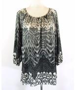 AVENUE Size 22W 24W Matte Jersey Long Tunic Top - $19.99