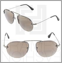 Prada Teddy PR58OS Aviator Violet Gunmetal 5AV-1K2 Mirrored Sunglasses 58OS - $224.73