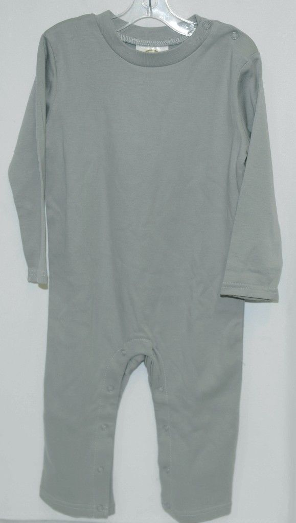 Blanks Boutique Boys Long Sleeved Romper Color Gray Size 2T