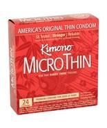 Kimono Micro Thin Lubricated Latex Condoms - 24 CT.. - $25.73