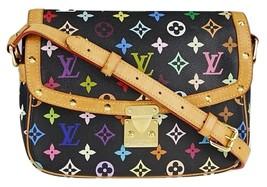 LOUIS VUITTON Black Monogram Multicolore Sologne Bag - $1,245.00