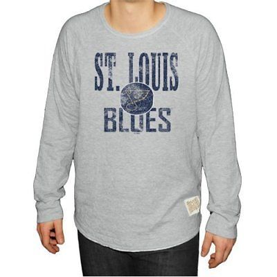 Primary image for NWT NHL St Louis Blues Men's Size 2XL Long Sleeve Deconstructed Raglan Shirt