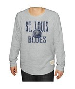 NWT NHL St Louis Blues Men's Size 2XL Long Sleeve Deconstructed Raglan S... - £11.91 GBP