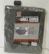 MHP CV4PREM Full Length Polyester Lined Vinyl Grill Cover Color Black image 1