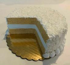 "Fake Coconut Cake Sliced Display 9"" - fake for home decor - $49.59"