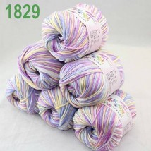 Lot of  6 x 50g balls Cashmere Silk velvet Children Yarn White blue Viol... - $51.00