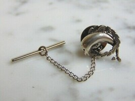 Vintage Estate Sterling Silver Dolphin Tie Tack 3.5g E5003 - $25.00