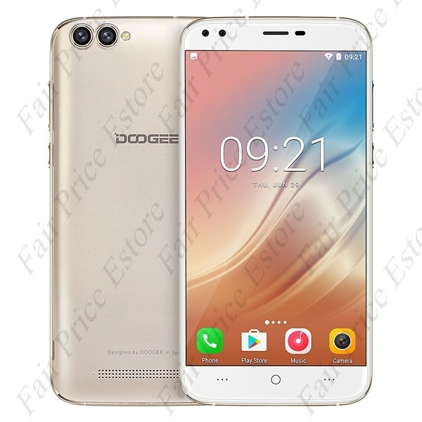 "Primary image for DOOGEE X30 Quad Camera MTK6580 Quad-core 5.5"" HD Android 7.0 3G Phone (Gold)"