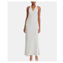 Ralph Lauren Womens White Striped Maxi Dress Full-Length Back Zipper Siz... - $44.99