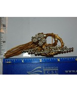 Hattie Carnegie Signed Brooch with Faux Pearls Rhinestones Leaf Parts Wi... - $119.99