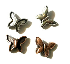 BUTTERFLY FINE PEWTER BEAD image 1