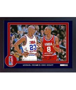 Michael Jordan Kobe Bryant NBA signed autograph photo poster print Framed - $19.27