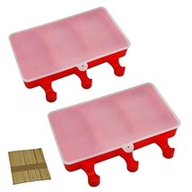 Mirenlife 3 Cavities Silicone Cute Ice Pop Mold with Lid, Ice Cream Bar ... - $14.49 CAD